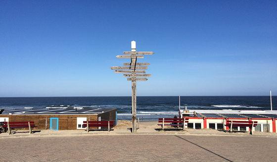 Strandwandeling De Koog & Vuurtoren De Cocksdorp wegwijzer de koog