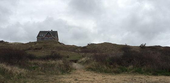 Wandeling De Muy op Texel wolken de Koog