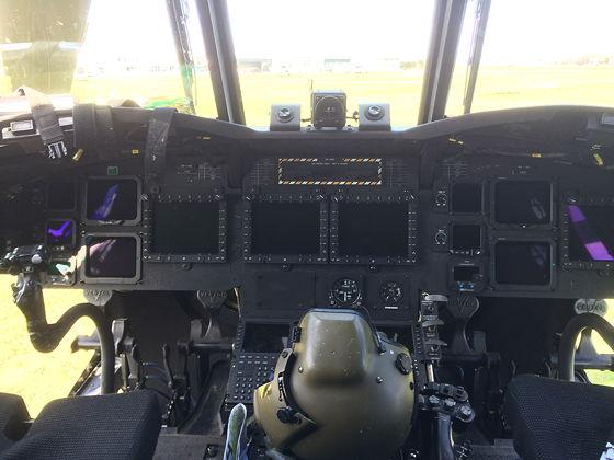 Juttersmuseum en Oorlogs- en Vliegtuigmuseum chinook cockpit