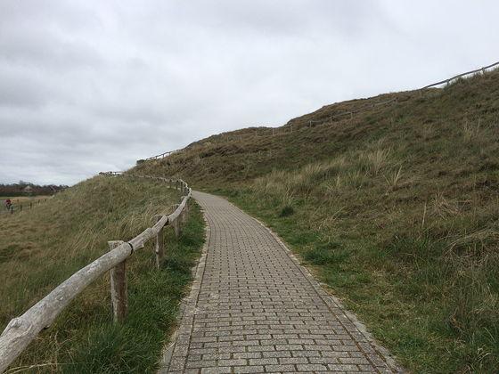 Wandeling de Slufter en Boot naar Vlieland slingerend naar boven