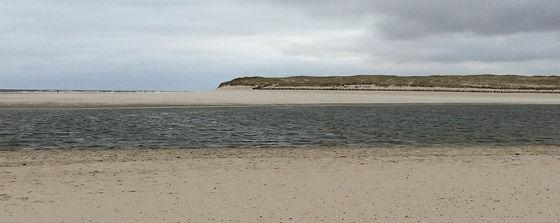 Wandeling de Slufter en Boot naar Vlieland laatste duin andere kant