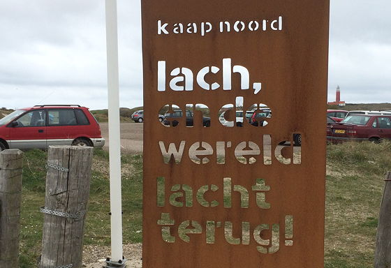 Wandeling de Slufter en Boot naar Vlieland mooie tekst kaap noord