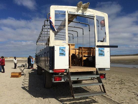 Huifkartocht en Wandeling over Strand en door Duinen achterkant