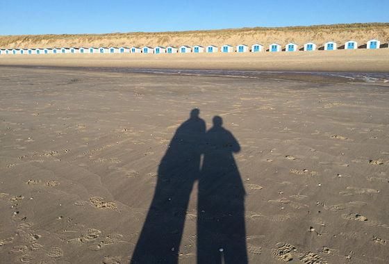 Huifkartocht en Wandeling over Strand en door Duinen schaduwen van ons