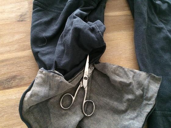 Recycle je kleding: van joggingbroek tot maxi rok pijpen open knippen