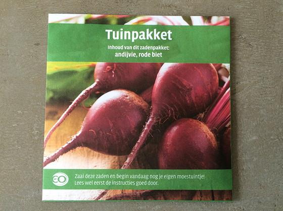 Dagboek van een Moestuintje 10 cadeautje EO tuinpakket