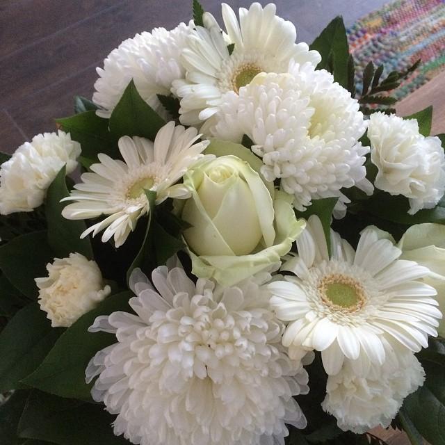 witte bos bloemen