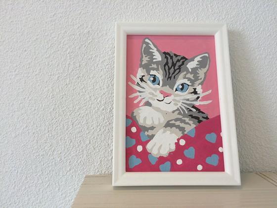 Ploggen 13 Juli 2015: Op vakantie naar Terherne huisje 413 Landal Sneekermeer schilderijtje katje