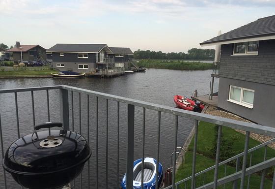 Ploggen 17 Juli 2015: Grou en Wandelen bij Sneekermeer Uitzicht huisje 413 landal sneekermeer