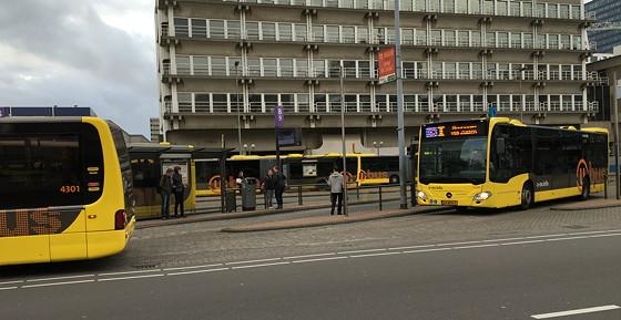 Margriet Winterfair 2015 wachten op bus