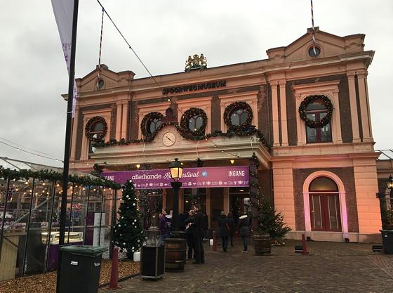 Allerhande Kerstfestival 2015 in Spoorwegmuseum ingang