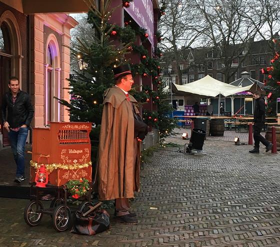 Allerhande Kerstfestival 2015 in Spoorwegmuseum orgeldraaier