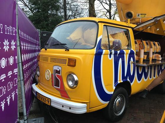 Allerhande Kerstfestival 2015 in Spoorwegmuseum chocomel VW busje