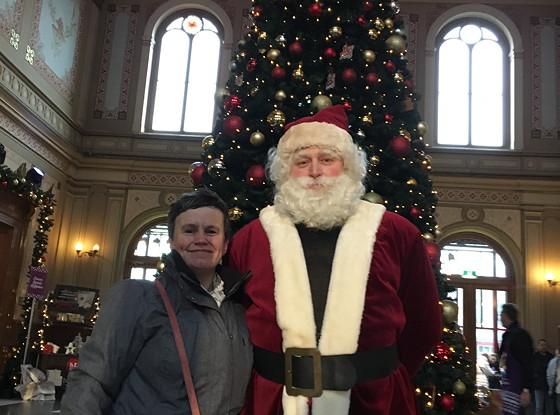 Allerhande Kerstfestival 2015 in Spoorwegmuseum met de kerstman