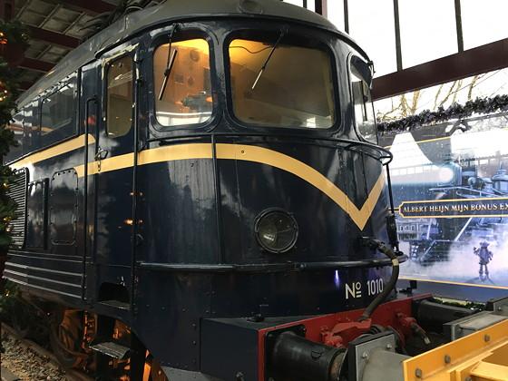 Allerhande Kerstfestival 2015 in Spoorwegmuseum oude trein