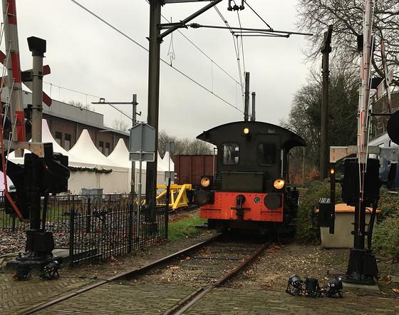 Allerhande Kerstfestival 2015 in Spoorwegmuseum schattig klein treintje