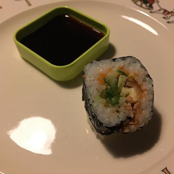 sushi eten met britt