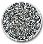 Mi Moneda swarovski plain steel grey