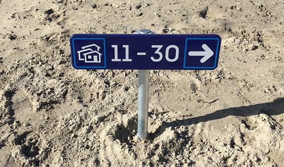 Ploggen 7 Maart 2016: Strandhuisjes van Landal Beachvilla's deze kant op