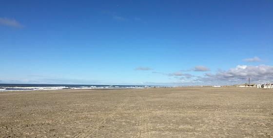 Ploggen 7 Maart 2016: Strandhuisjes van Landal Beachvilla's wandelen