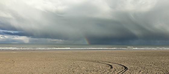 Ploggen 8 Maart 2016: Rondje Hoek van Holland en Bunkers in de duinen regenboog