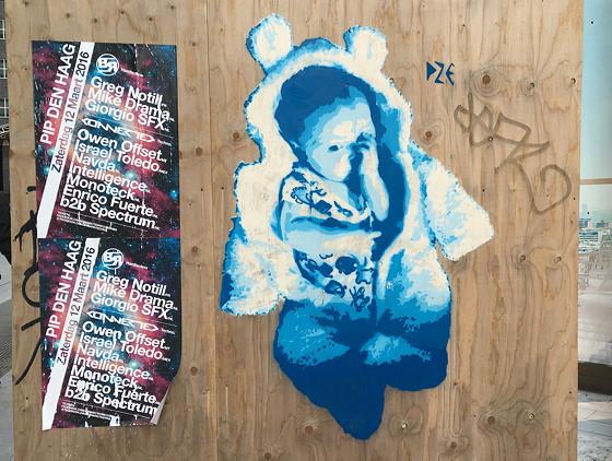 Ploggen 9 Maart 2016: Shoppen in Den Haag baby graffiti