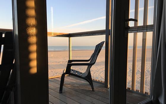Ploggen 10 Maart 2016: Wandeling op de pier en op visite zon en strandstoel