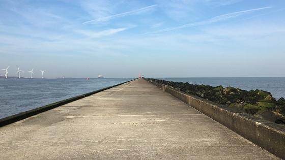 Ploggen 10 Maart 2016: Wandeling op de pier en op visite lengte van de pier