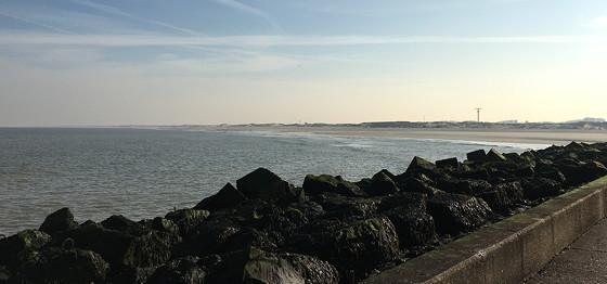 Ploggen 10 Maart 2016: Wandeling op de pier en op visite strand