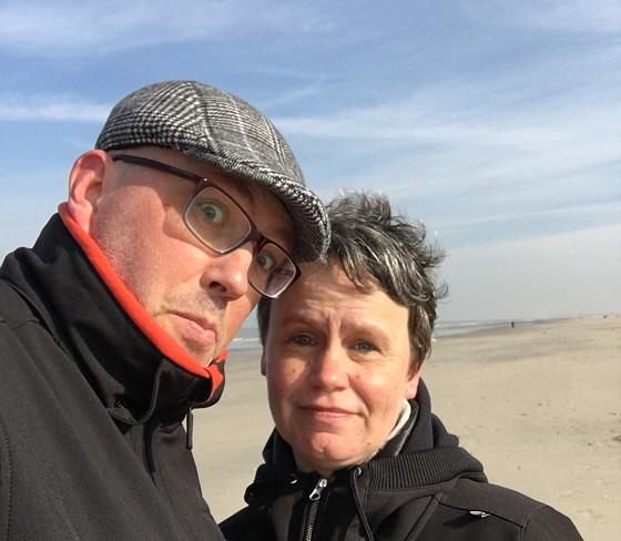Ploggen 10 Maart 2016: Wandeling op de pier en op visite selfie