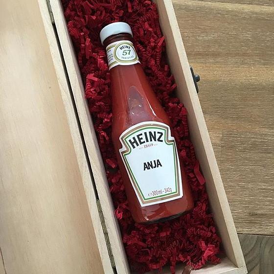 tomatenketchup met naam