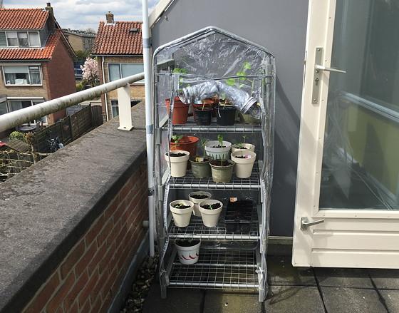 tuinkasje op het balkon