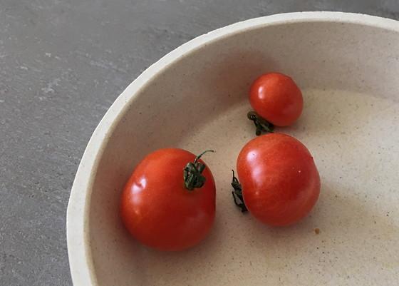 Moestuintje 2016-06: Wat Oogst en t Groeit tomaatjes