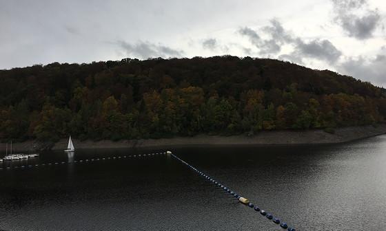 Ploggen 17 Oktober 2016: Wandelen bij de Rursee zeilbootje