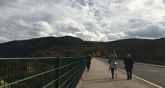 Ploggen 17 Oktober 2016: Wandelen bij de Rursee wolken