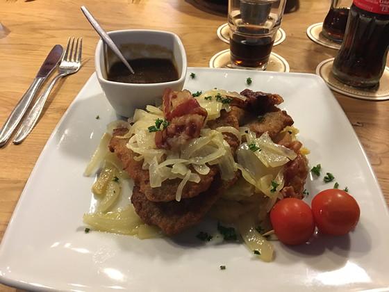 Ploggen 17 Oktober 2016: Wandelen bij de Rursee heimbacher brauhaus schnitzel