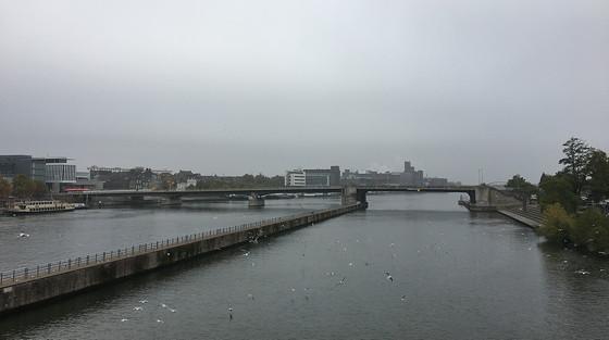 Ploggen 27 Oktober 2016: Dagje Maastricht uitzicht over Maas