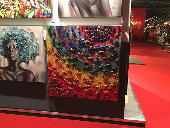 Ploggen 24 November 2016: Margriet Winterfestival regenboogschilderij speelgoedautootjes