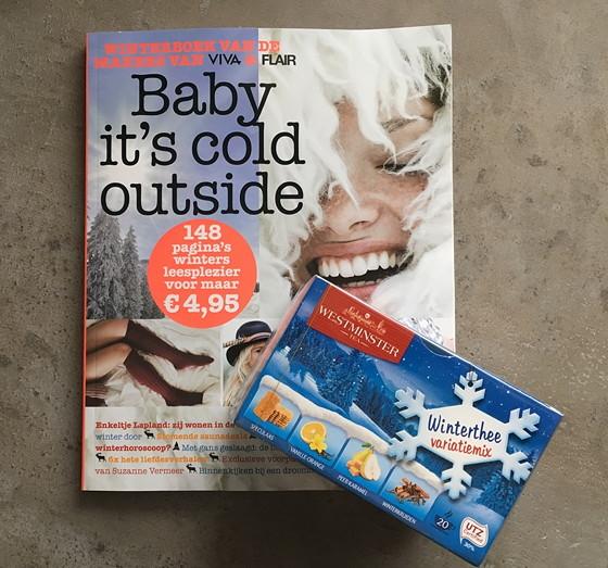 Flair Viva winterboek en aldi winterthee